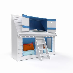 3D playful bunk bed children