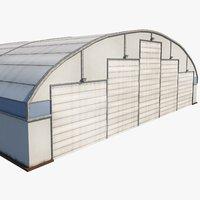 aircraft maintenance hangar airport 3D model