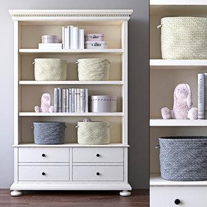 jameson large bookcase rh model
