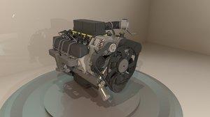 3D suv v8 engine