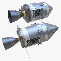 3D apollo spacecraft space