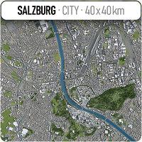 salzburg surrounding area - 3D