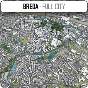 breda surrounding area - 3D model