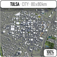 tulsa surrounding - 3D model