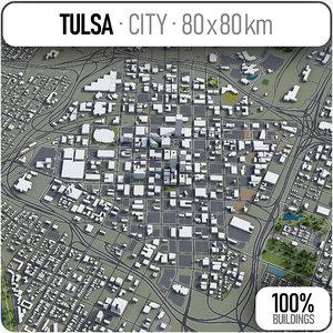 tulsa surrounding - 3D model