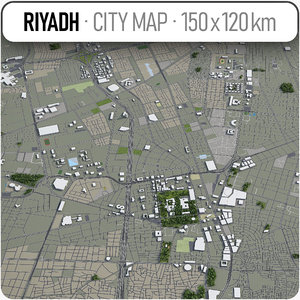 3D riyadh surrounding area -