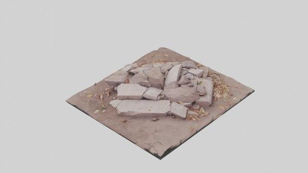 3D model scanned stones