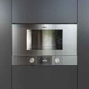 3D model gaggenau oven bmp224110 kitchen appliance