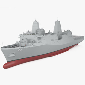 3D antonio-class san antonio model
