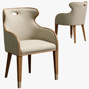 theodore cannon scoop upholstered 3D