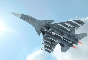 military cockpit fighter 3D