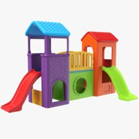 3D real kids slide