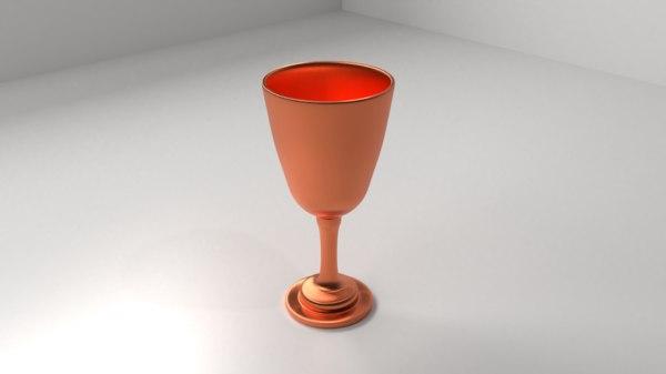 3D copper goblet 2 model