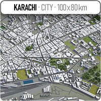 karachi surrounding area - model