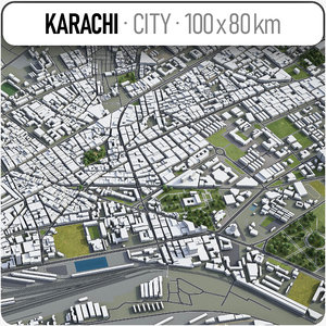 karachi surrounding area - model