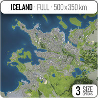 3D iceland -