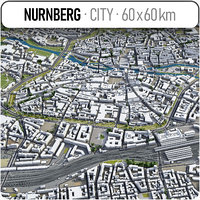 nurnberg surrounding area - 3D model