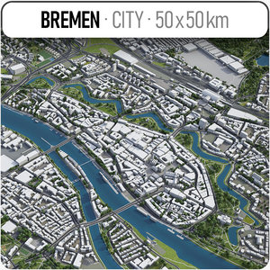 3D model bremen surrounding area -