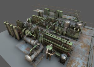 machinery pack unity engine 3D