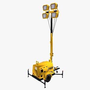 3D model light tower generator
