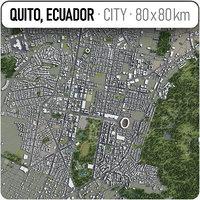 3D model quito surrounding area -