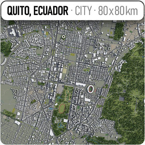 3D model quito surrounding area -