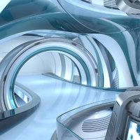 3D sci-fi futuristic energy generator