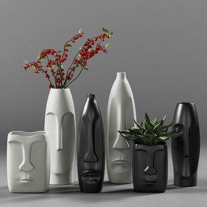 decorative vases pots model