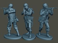 german soldier ww2 shoot model