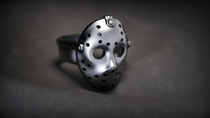 3D model jewellery jason mask ring