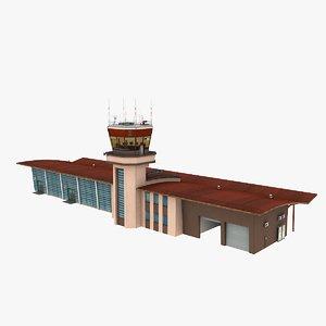 airport terminal air 3D model