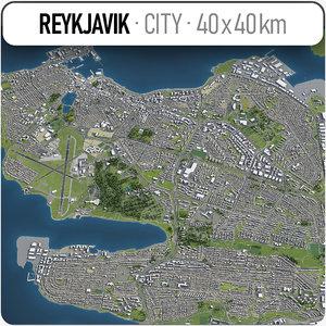 reykjavik surrounding - model