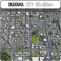 okayama surrounding area - 3D model
