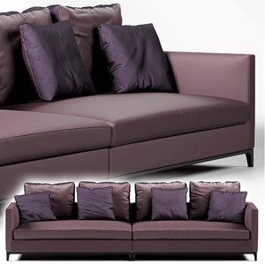 3D camerich crescent sofa