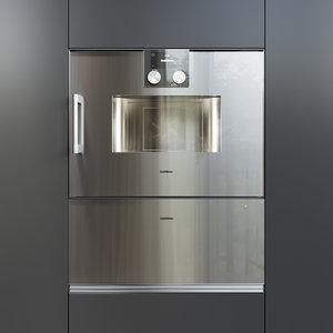 gaggenau oven bsp250110 wsp222110 3D