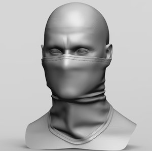 3D model balaclava mask
