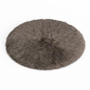 fur rug 3D