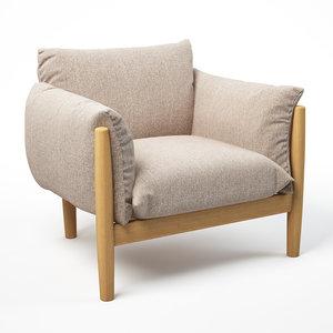 tapio armchairs paola lenti 3D model