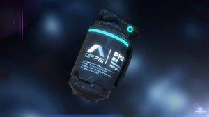 low-poly plasma-powered hand granade 3D model