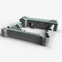 Fort (modular, low-poly)