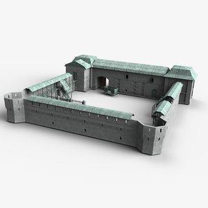 3D modular fort model