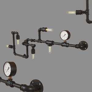 3D loft pipeline loft1906w model
