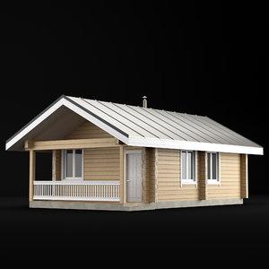 3D house bathhouse bath model