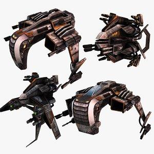3D model sci-fi star fighters