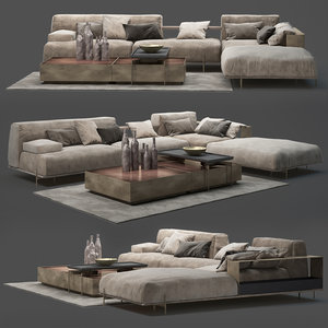 3D model sofa soho shake design