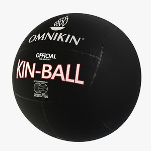 kin-ball black balloon 3D model