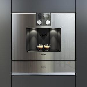gaggenau cmp250111 wsp221110 kitchen appliance 3D model