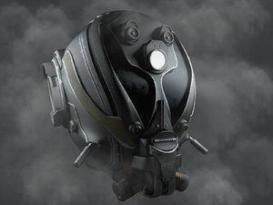 helmet sci fi 3D model