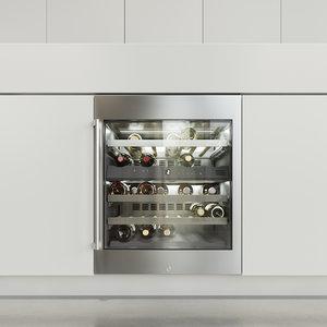 3D gaggenau wine rw404261 refrigerator model