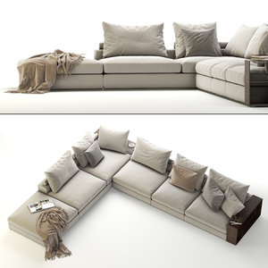 3D flexform groundpiece sectional sofa